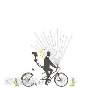 modne księgi gości księga wiosenny rower wpisów - unikalny