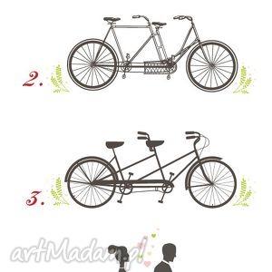 plakat księgi gości wiosenny rower wpisów - unikalny