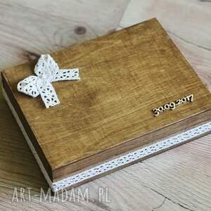 hand made księgi gości pudełko zestaw pudełek - na koperty i na