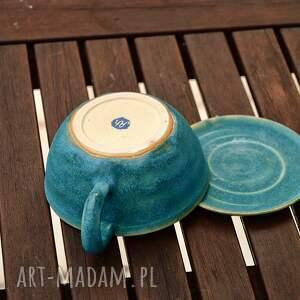 handmade kubki artystyczna duża filiżanka kubek z talerzykiem