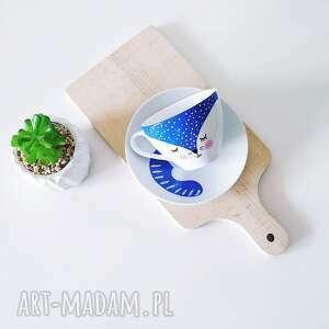 atrakcyjne kubki porcelanowy filiżanka ze spodkiem 150 ml kot