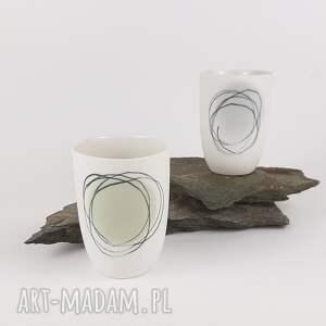 białe kubki porcelana kubeczek do kawy
