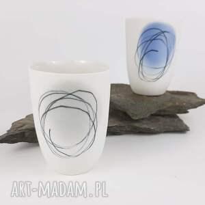 niebieskie kubki porcelana kubeczek do kawy