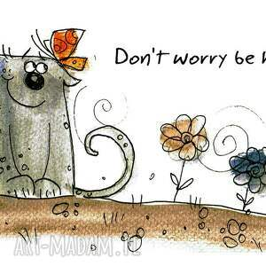 kubki koty kubek dont worry be happy