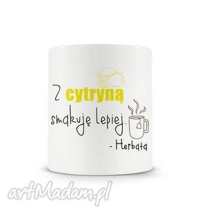 wyraziste kubki kubek - herbata z cytryną