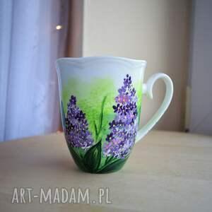 handmade kubki kubek ręcznie malowany kwiat bzu