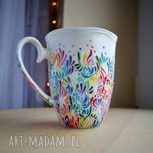 atrakcyjne kubki dla mamy kubek ręcznie malowany kolorowy