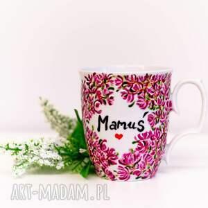 kubki dzień matki kubek ręcznie malowany z motywem kwiatów