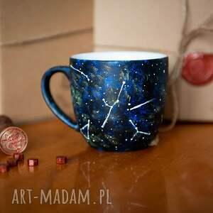 beżowe kubki kubek sowa ręcznie malowany - gwiezdna