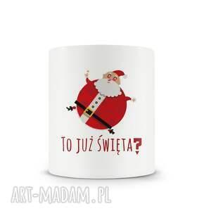 upominki święta kubek świąteczny z bożonarodzeniowymi motywami