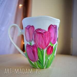efektowne kubki dla kobiety kubek tulipany dla niej ręcznie