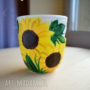 ręcznie zrobione kubki słoneczniki kubek