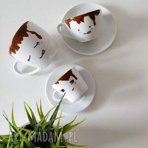 handmade kubki kubek zalany kawą - 300
