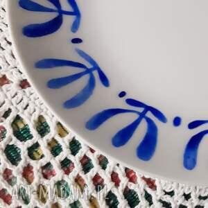 niebieskie malowane malowana filiżanka - kubek