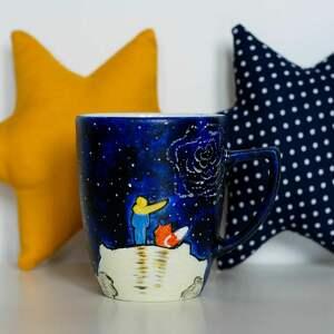 kubki ceramika dla domu malowany kubek mały książę lis