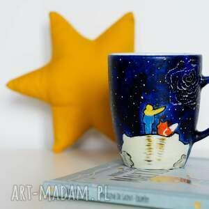 kubek mały książę kubki niebieskie malowany lis