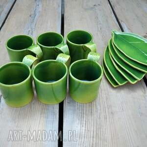 kubki zestaw 6 kubków ceramicznych