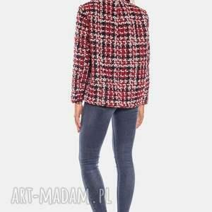 czerwone kurtki glamour bien fashion kolorowa elegancka