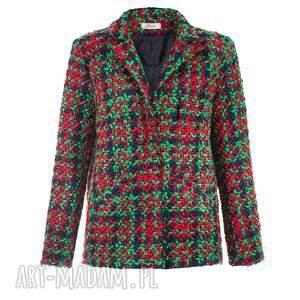 kolorowe kurtki glamour bien fashion zielona elegancka