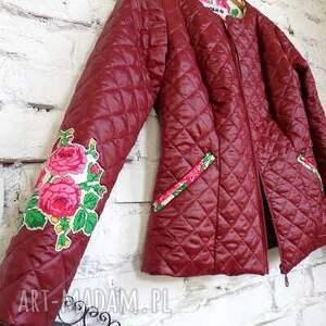 handmade kurtki bordo kurtka folk design aneta