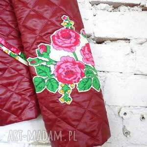kurtki bordo kurtka folk design aneta