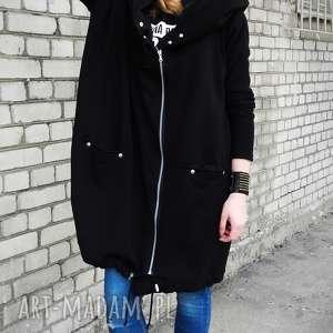 asymetryczna bluza długa czarna oversize