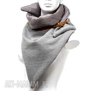 efektowne prezent dwustronny pikowany szal chusta
