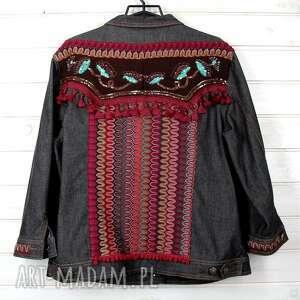 szare dżinsowa kurtka katana boho