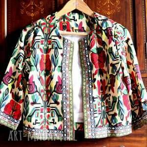 ręcznie wykonane kurtki żakiet etniczny orientalny