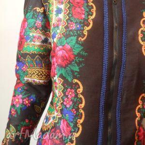 oryginalne kurtki folk design - letnia kurtka czarna
