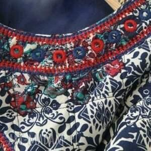 płaszcz kurtki haftowany folkowy kubraczek