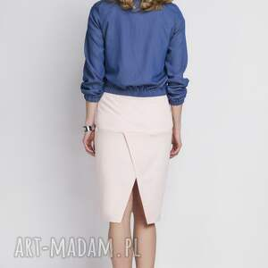 kurtki krótka jeansowa kurtka, kr102 jeans