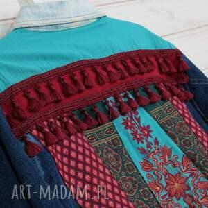 hand-made kurtki etno kurtka boho z frędzlami festiwalowa