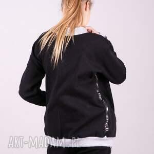 bluzki kurtka bomberka dresowa czarna