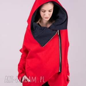 handmade kurtki kurtka damska na zamek czerwona