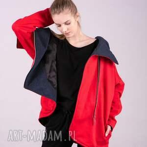 bluzki kurtka damska na zamek czerwona
