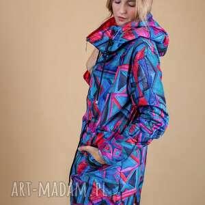 niekonwencjonalne spodnie dresowe kurtka damska artistic pattern