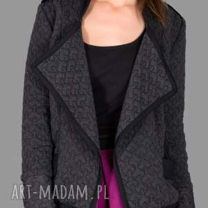 szare kurtka dark grey 3d jacket