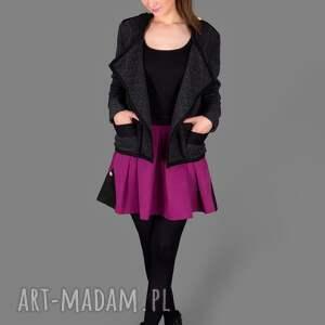 wytłaczana kurtka dark grey 3d jacket