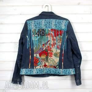 atrakcyjne kurtki frędzle kurtka dżinsowa z frędzlami boho