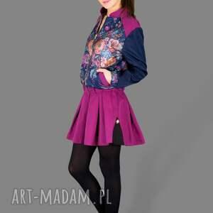 modne kurtki bomber kurtka flower jacket