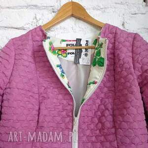 folk kurtki różowe kurtka design aneta larysa