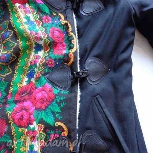 kolorowe kurtki kurtka na wełnie folk design