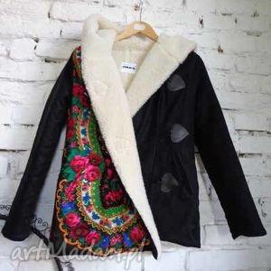 kurtki kurtka na wełnie folk design