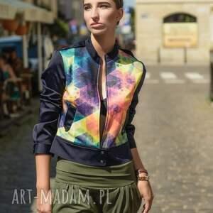 urokliwe kurtki damska kurtka ramoneska giacca geometria