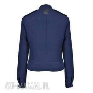 niebieskie kurtki damska kurtka ramoneska giacca geometria
