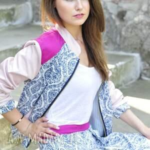 różowe kurtki kurtka summer bomber jacket