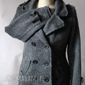 kurtki kurtka wełniana filcem okraszana