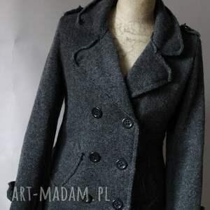 gustowne kurtki wełna kurtka wełniana filcem okraszana