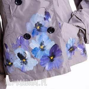 handmade kurtki kurtka wiosenna ręcznie malowana